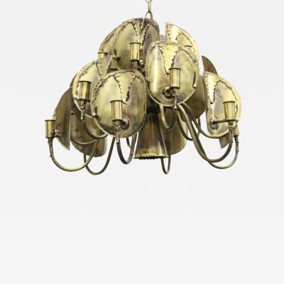 Tom Greene Brutalist Torch Cut Chandelier by Tom Greene for Feldman