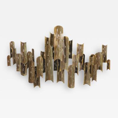 Tom Greene Tom Greene for Feldman Lighting copper light sculpture