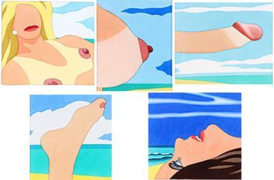 Tom Wesselmann Seascape Portfolio Five Works