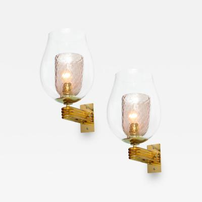 Tomaso Buzzi Early Pair of Sconces by Tomaso Buzzi for Venini