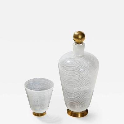 Tomaso Buzzi Lidded Bottle with Cup by Tomaso Buzzi for Venini