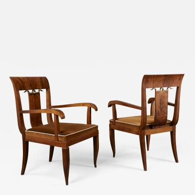Tomaso Buzzi Pair of Armchairs attributed to Tomaso Buzzi Italy 1930s