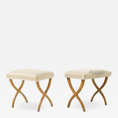 Tomaso Buzzi Pair of Bench Attributed to Gio Ponti and Tomaso Buzzi in wood 1930s