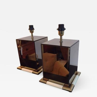 Tommaso Barbi 1970s Rare Pair of Tommaso Barbi Table Lamps