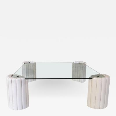 Tommaso Barbi Elegant ceramic and glass Coffee Table signed by Tommaso Barbi