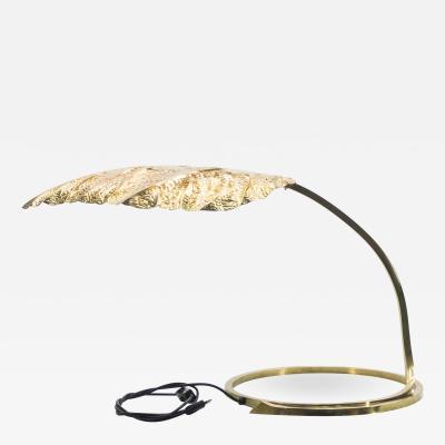 Tommaso Barbi Hollywood Regency Rhubarb brass table lamp Tommaso Barbi 1970s