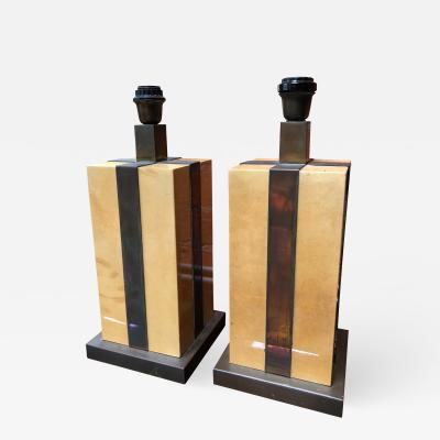 Tommaso Barbi Pair of Amazing Italian Table Lamps 1970s by Tommaso Barbi