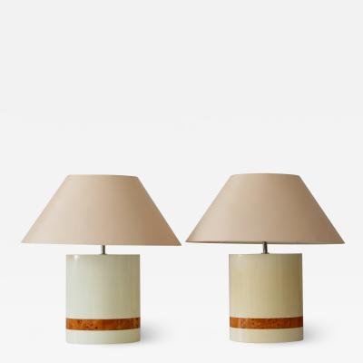 Tommaso Barbi Set of Two Elegant Mid Century Modern Table Lamps by Tommaso Barbi Italy 1970s
