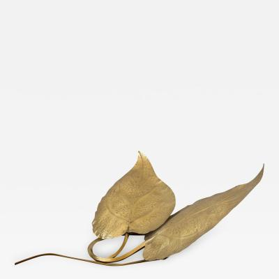 Tommaso Barbi Tommaso Barbi Brass Leaves Table Lamp
