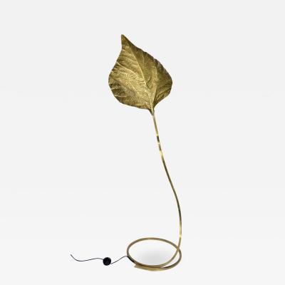 Tommaso Barbi Tommaso Barbi Italian Brass Rhubarb Leaf Floor Lamp