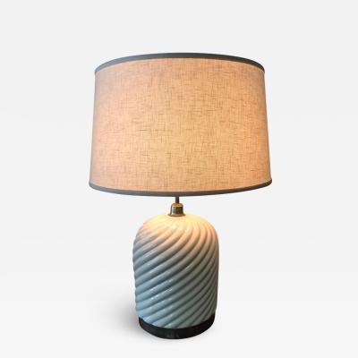 Tommaso Barbi Tommaso Barbi Porcelain Ceramic and Chrome Table Lamp