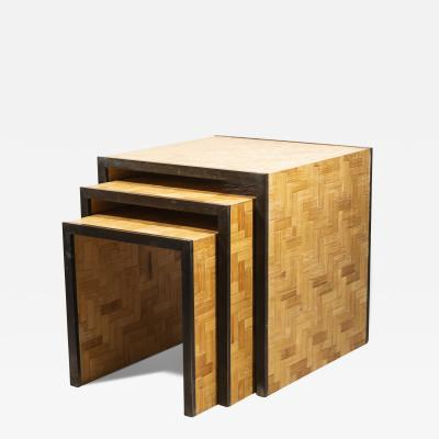 Tommaso Barbi Tommaso Barbi Three Nesting Tables Italy circa 1970