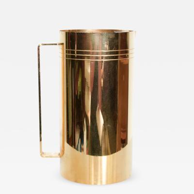 Tommi Parzinger 1960s Tommi Parzinger Dorlyn Silversmiths Sleek Modernist Gold Pitcher 24k GP