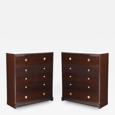 Tommi Parzinger Custom Parzinger Mahogany Chests