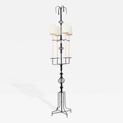 Tommi Parzinger Impressive Wrought Iron Floor Lamp by Tommi Parzinger