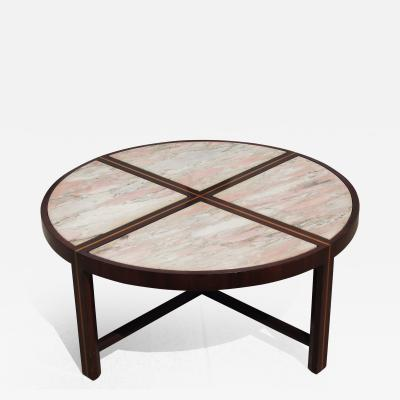 Tommi Parzinger Inlaid Marble Coffee Table by Tommi Parzinger for Charak Modern