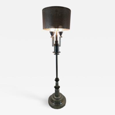 Tommi Parzinger MONUMENTAL ART DECO REVIVAL FLOOR LAMP IN THE MANNER OF TOMMI PARZINGER