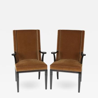 Tommi Parzinger Pair of Aermchairs by Tommi Parzinger for Charak Modern Circa 1940s