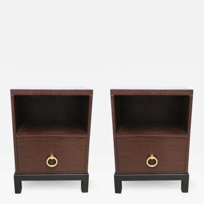 Tommi Parzinger Pair of Bed Side Tables by Tommi Parzinger for Widdicomb Furniture