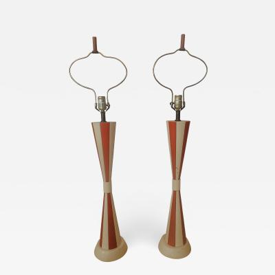 Tommi Parzinger Pair of Parzinger Leather Lamps