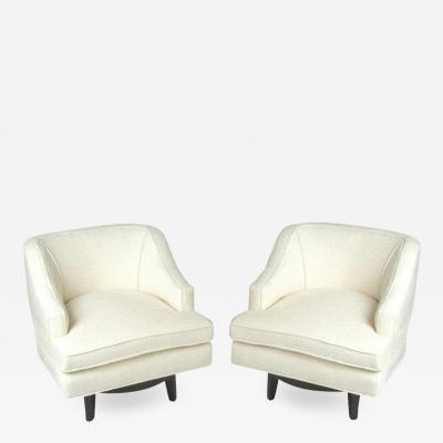 Tommi Parzinger Pair of Tommi Parzinger Swivel Chairs