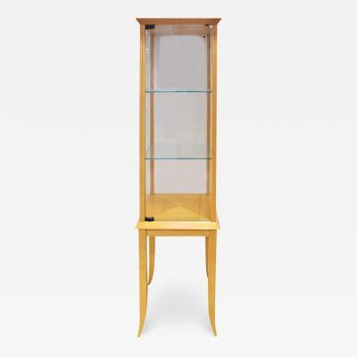 Tommi Parzinger Parzinger Petit Walnut and Glass Display Cabinet 1960s