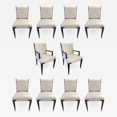 Tommi Parzinger Set of Ten Tommi Parzinger Dining Chairs Parzinger Originals