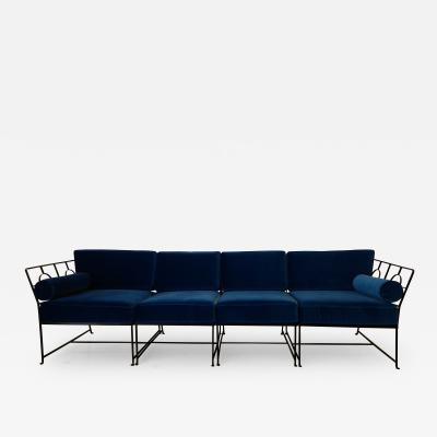 Tommi Parzinger Tommi Parzinger American Modern Sectional Sofa by Salterini