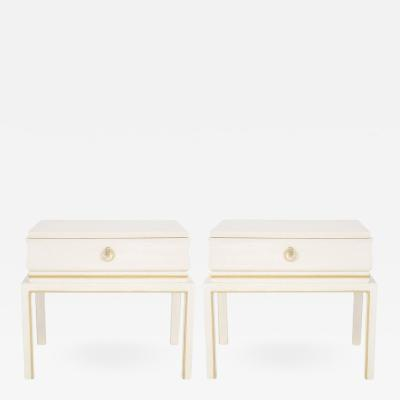 Tommi Parzinger Tommi Parzinger Bleached Mahogany Night Stands