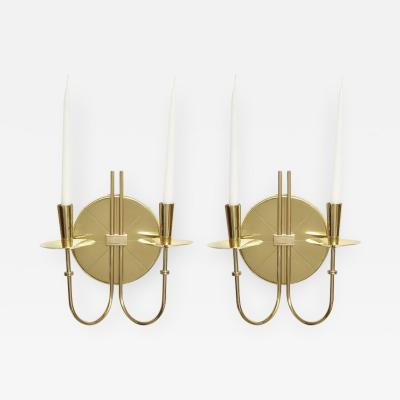 Tommi Parzinger Tommi Parzinger Brass Sconces Two Pairs Available