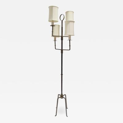 Tommi Parzinger Tommi Parzinger Elegant Floor Lamp In Wrought Iron 1950s