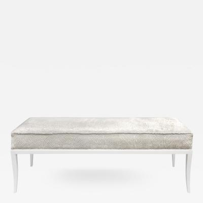 Tommi Parzinger Tommi Parzinger Graceful Bench with White Lacquer Base 1950s