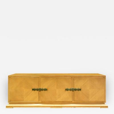 Tommi Parzinger Tommi Parzinger Large Credenza With Brass Bolt Latches 1940s