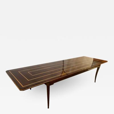 Tommi Parzinger Tommi Parzinger Mid Century Modern Mahogany Charak Modern Two Leaf Dining Table