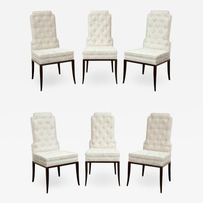 Tommi Parzinger Tommi Parzinger Set of 6 Elegant Dining Chairs 1950s