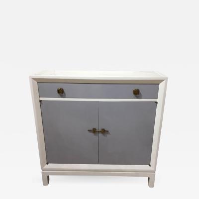 Tommi Parzinger Tommi Parzinger Style Petite Marble Top Lacquered Cabinet