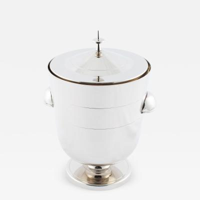 Tommi Parzinger Tommi Parzinger polished nickel ice bucket circa 1950s
