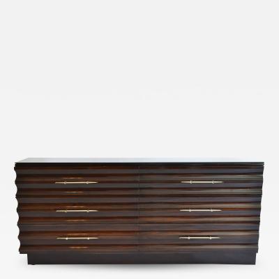 Tommi Parzinger Wavy Front Cabinet Dresser Chest by Tommi Parzinger