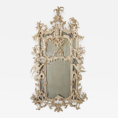 Tonal Chinese Chippendale Style Mirror