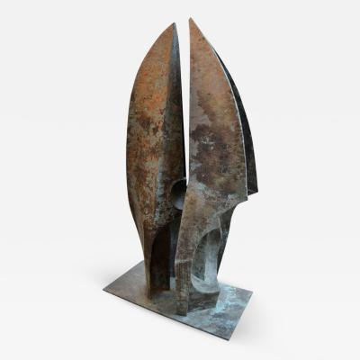 Toni Fabris A Bronze Sculpture Titled Grande Incontro by Toni Fabris 1977