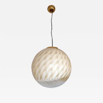Toni Zuccheri Large Mid Century Modern Murano glass ceiling globe Toni Zuccheri for Venini