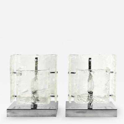 Toni Zuccheri PAIR OF TABLE LAMPS BY ZUCCHERI FOR VENINI 1970