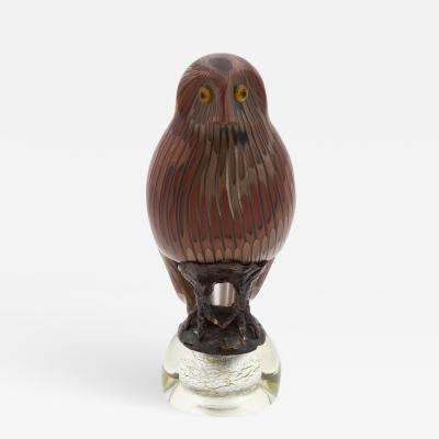 Toni Zuccheri Tawny Owl Figurine by Toni Zuccheri Venini