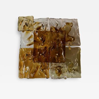 Toni Zuccheri Toni Zuccheri Set Of Five Glass Wall Lamps by Venini Italy 1971