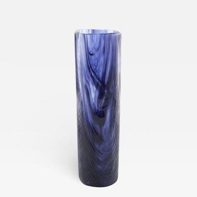 Toni Zuccheri Venini Murano Vase by Toni Zuccheri from the Tronchi Series Blue Blown Glass
