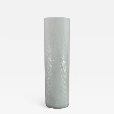 Toni Zuccheri Venini Murano Vase by Toni Zuccheri from the Tronchi Series White Blown Glass