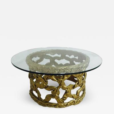 Tony Duquette Gold Ribbon Coffee Table by Tony Duquette