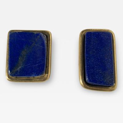 Tony Duquette Pair Lapis Lazuli Paper Weights