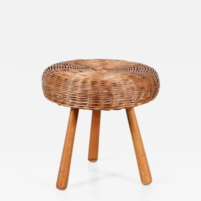 Tony Paul 1950s Tony Paul Wicker Stool