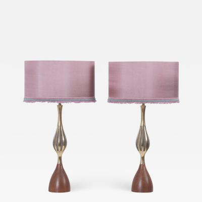 Tony Paul Pair of Table Lamps by Tony Paul for Westwood Lightning USA 1960s